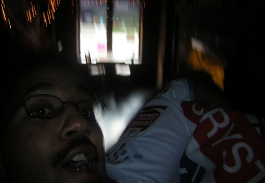 02 Attempt to photgraph myself with my Palace Flag
