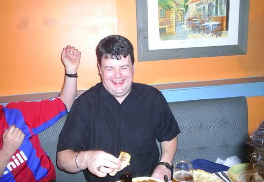 Jaserob enjoying a long awaited English Curry