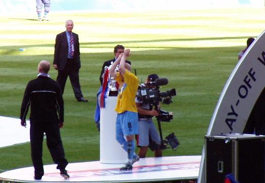 Aj on podium
