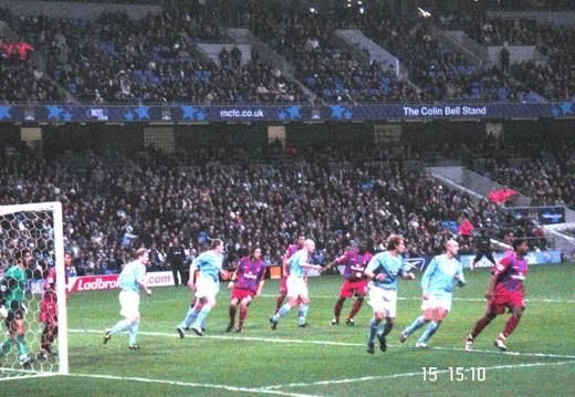 14 Man C goal under pressure 150105