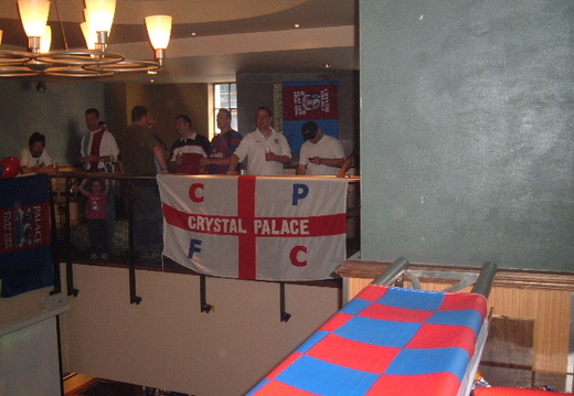 Flags in the bar