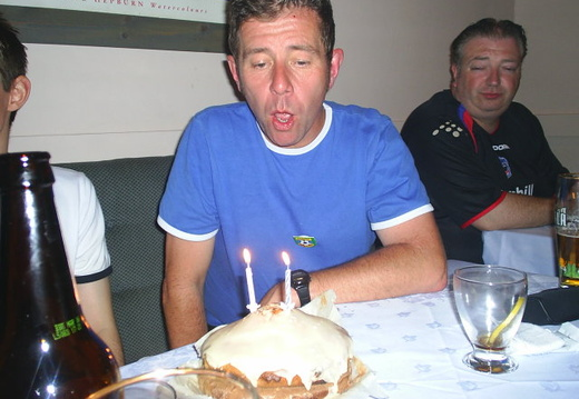 Birthday Boy blowing out his candles